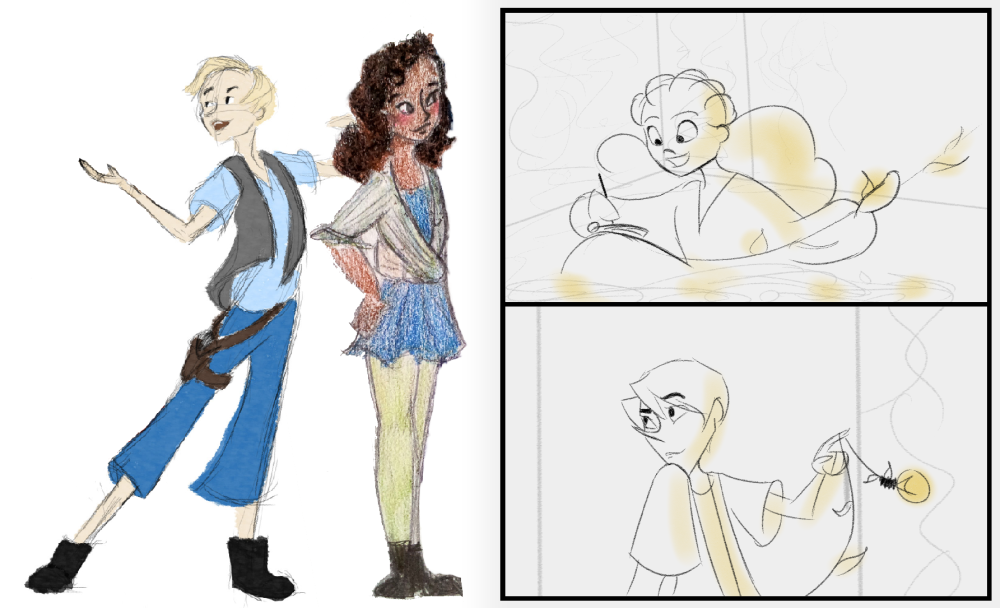 Tris and Pointes, character design evolution (Commonplace - 2014/2016)